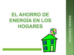Ahorro de energía en el hogar: Power Point