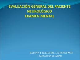 Evaluación del paciente neurologico