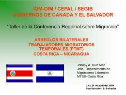 IOM-OIM / CEPAL / SEGIB GOBIERNOS DE CANADA Y EL