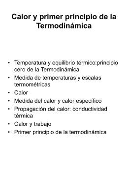 Calor y primer principio de la Termodinámica