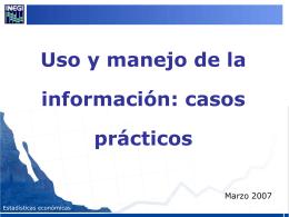 Cómo Utilizar la Información Estadística