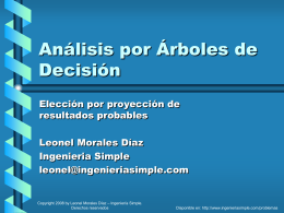 Análisis por Árboles de Decisión