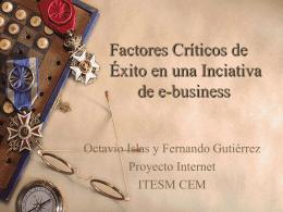 Factores Críticos de Éxito en una Inciativa de e
