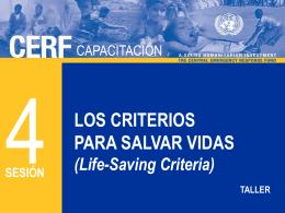 CERF 4 - El criterio para salvar vidas del CERF S Jul2012