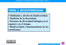 Tema 2. Biodiversidad