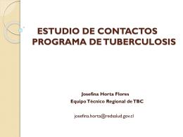 ESTUDIO DE CONTACTOS DE TUBERCULOSIS