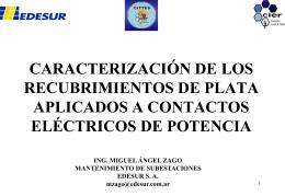 caracterización de los recubrimientos de plata aplicados a contactos