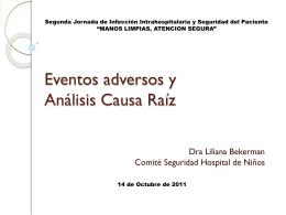 Eventos adversos y análisis causa raíz