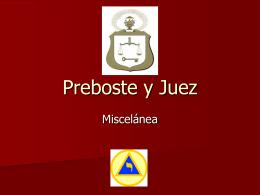 07° Grado – Preboste y Juez