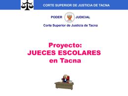 PRESENTACION DE JUECES ESCOLARES