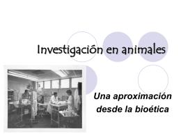 Investigación en animales Una aproximación desde la bioética
