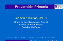 Prevención Primaria (A. Kaskutas)