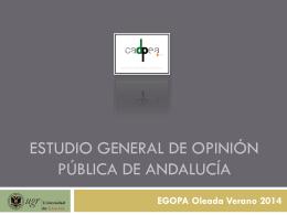 ESTUDIO GENERAL DE OPINIÓN PÚBLICA DE ANDALUCÍA