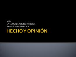 HECHOS Y OPINIONES - Profe ÁLVARO GARCÍA Lenguaje y