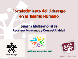fortalecimiento del liderazgo en el talento humano 1
