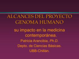 ALCANCES DEL PROYECTO GENOMA HUMANO