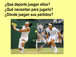 ¿Qué deporte juegan Nadal y Federer? ¿Qué necesitan para jugar