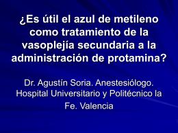 ¿Es útil el azul de metileno como tratamiento de la vasoplejía
