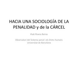 HACIA UNA SOCIOLOGÍA DE LA PENALIDAD y de la CÁRCEL