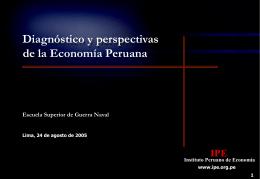 Diagnóstico y perspectivas de la Economía Peruana
