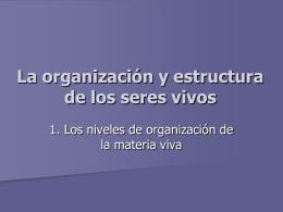 Niveles de organización - Material Curricular Libre