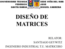MANTENCION DE MATRICES