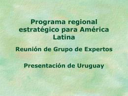 Necesidades de Desarrollo Industrial de Uruguay que se podrían