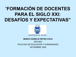 """""""FORMACIÓN DE DOCENTES PARA EL SIGLO XXI: DESAFÍOS Y"""
