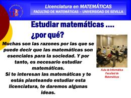 Diapositiva 1 - Facultad de Matemáticas