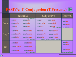 Conjugación pasiva - IES Fuente de la Peña