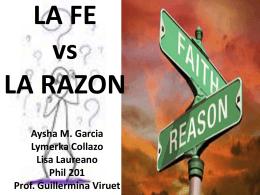 la fe vs la razon