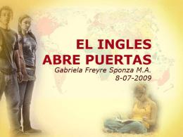 Estándares de calidad en la enseñanza del idioma inglés