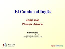 El camino al inglés - Norm Gold Associates