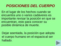 POSICIONES DEL CUERPO