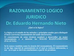 RAZONAMIENTO LOGICO JURIDICO