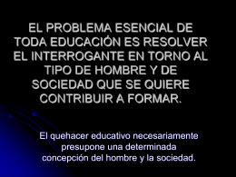 EL PROBLEMA ESENCIAL DE TODA