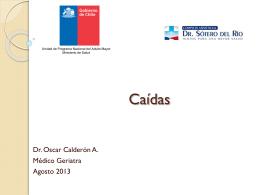 Dr. Oscar Calderon - Sindrome Geriatrico Caidas