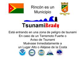 Letrero Tsunami Ready
