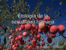 Etología de la sexualidad humana