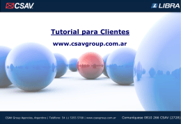 Tutorial - CSAV Group Argentina