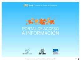 Presentacion del Portal de Acceso a Informacion