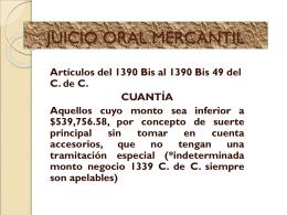 JUICIO ORAL MERCANTIL- DIC