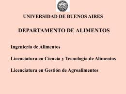 departamento de alimentos - Universidad de Buenos Aires