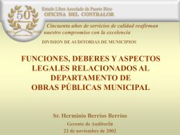 Funciones, Deberes y Aspectos Legales Relacionados al