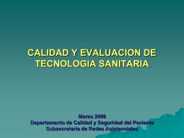 DEPARTAMENTO DE CALIDAD - ORAS CONHU / Organismo