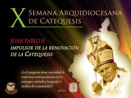 carta a los catequistas de la arquidiócesis de méxico