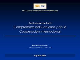 AECI - Paris - Declaración