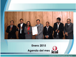 Enero 2015 Agenda del mes - RESI - Registro Estatal de Solicitudes