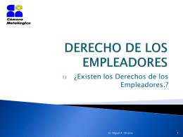 DERECHO DE LOS EMPLEADORES