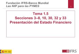 Tema 1.5 Secciones 3–8, 10, 30, 32 y 33 Presentación del Estado